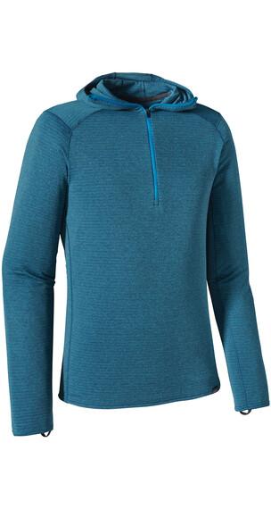 Patagonia M's Capilene Thermal Weight Zip-Neck Hoody Smolder Blue - Electron Blue X-Dye